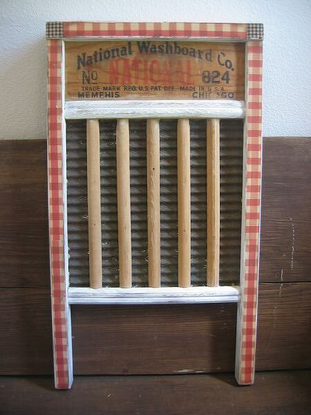 Antique Altered WashBoard~ matches Laundry sign
