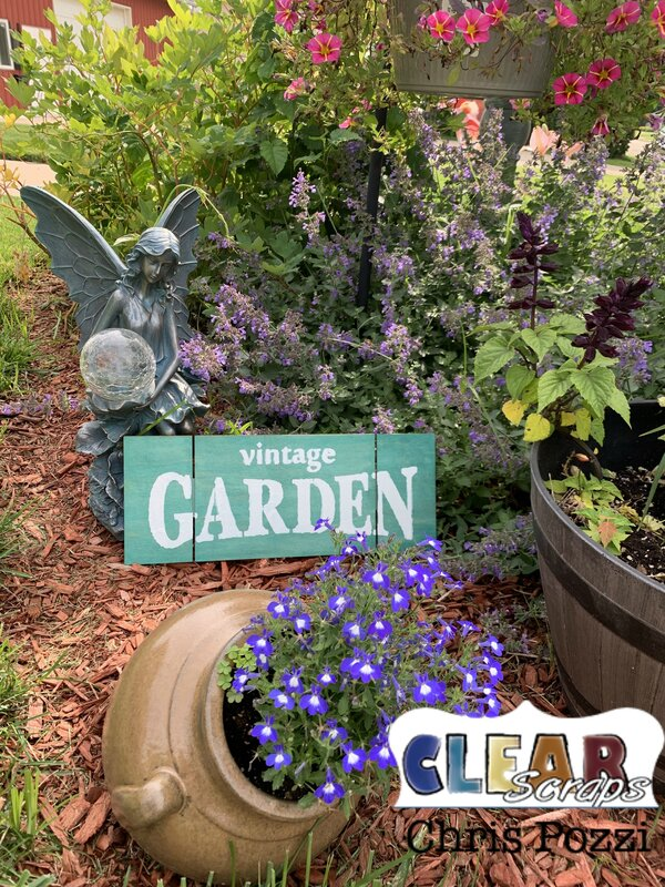 Vintage Garden Pallet Sign