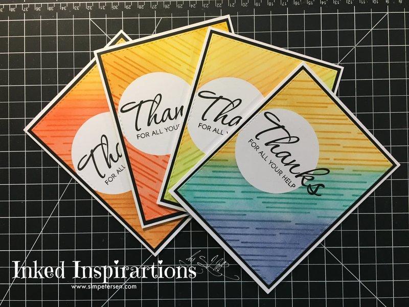 Ink Blended Cards - Thanks