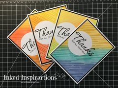 Ink Blended Cards - Thanks