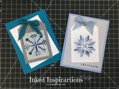MFT Scalloped Tag Cross-Stitched Die - Stitched Snowflakes