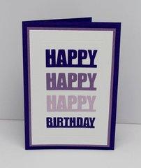 Little B Happy Birthday Card Die Cut Kit