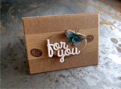 'For You' card with butterfly accent