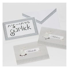 Handmade wedding cards/place settings/escort cards