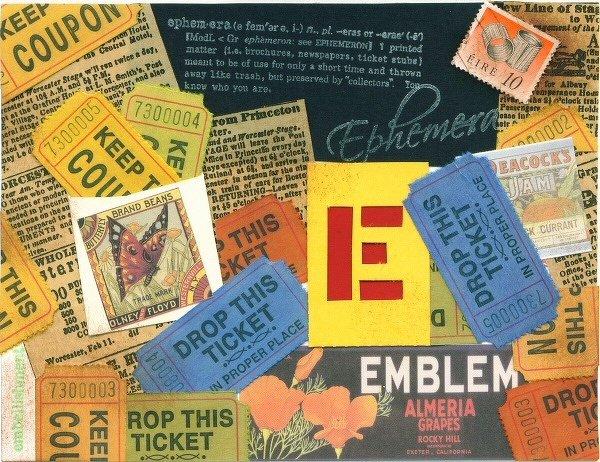 A-Z Challenge: E is for Ephemera