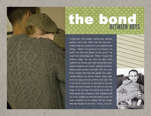Themed Projects : The Bond Between Boys