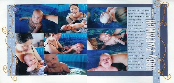 [ swimming with baby ]