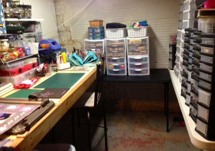 Work Station, Paper, Stamp and Punch Storage