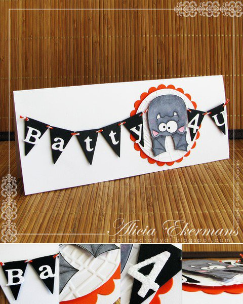 Batty 4 U - Halloween Card
