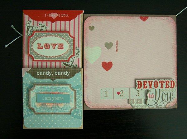 Be My Valentine altered envelopes