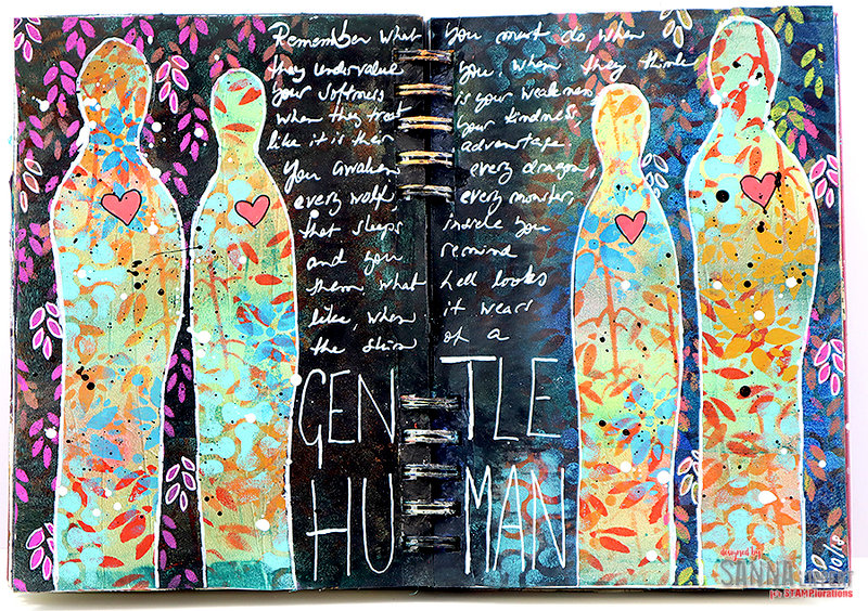 Gentle Human Art Journal page