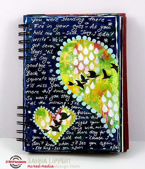 Song lyrics Art Journal sheet