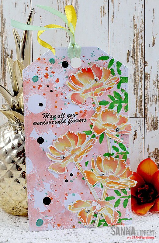 Spring themed tag