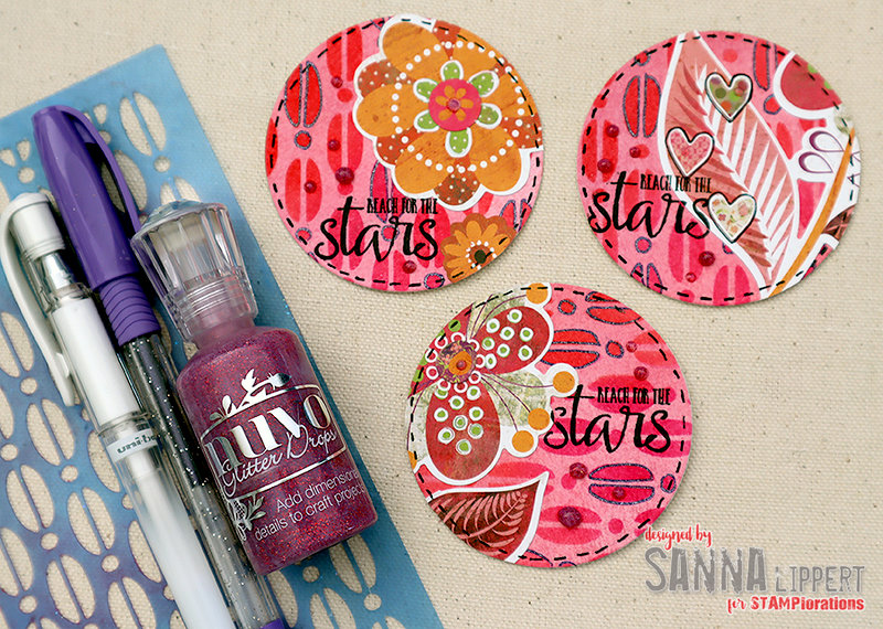 Pink artist trading coins