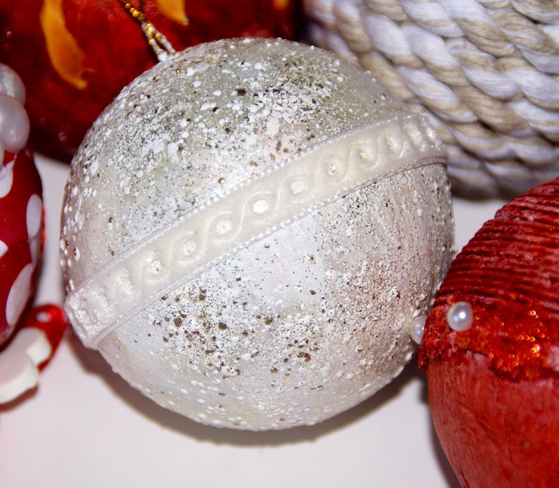Altered Christmas tree baubles