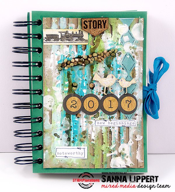 An altered notebook cover