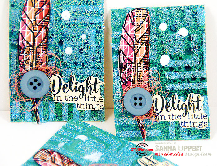 Delight in the little things ATC set