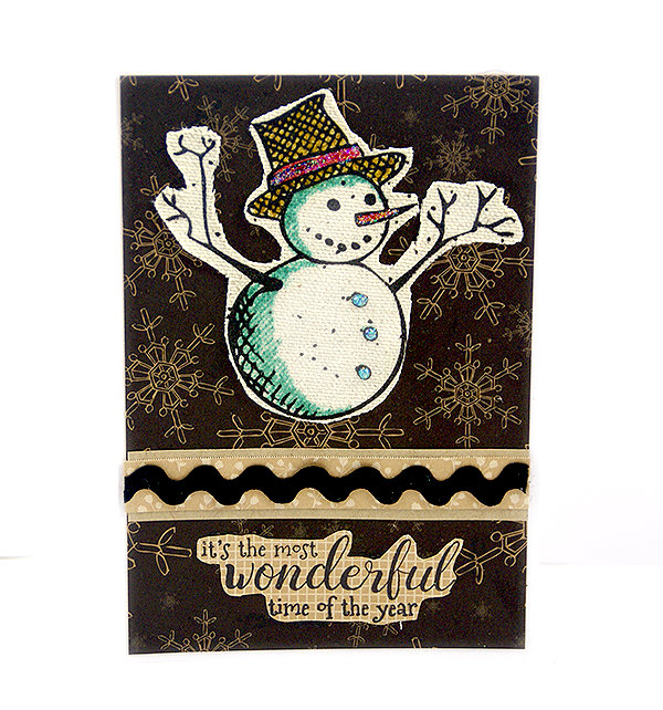Heat embossed, stamped Christmas cards