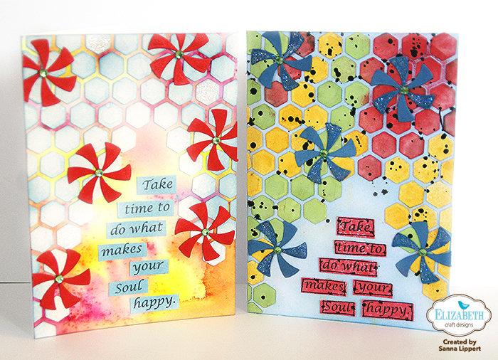 Lollypop die cut cards