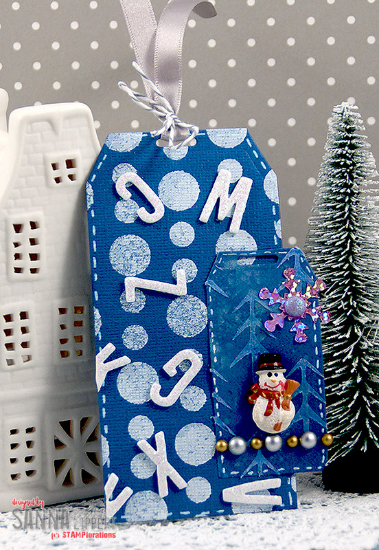 Winter themed tag