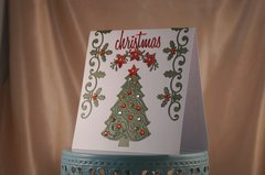 Christmas Holly and Embossed Tree
