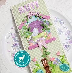 Lawn Fawn Slimline Easter Card