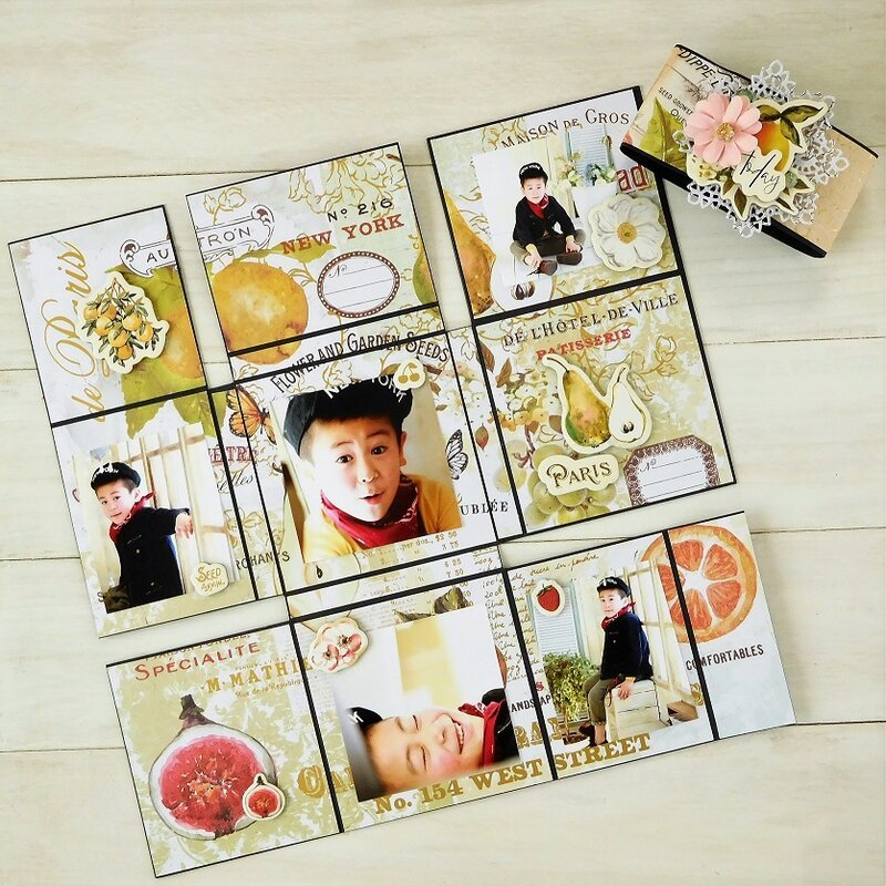 Easy folding mini album
