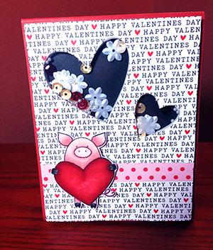 Double Window Valentine Shaker Card