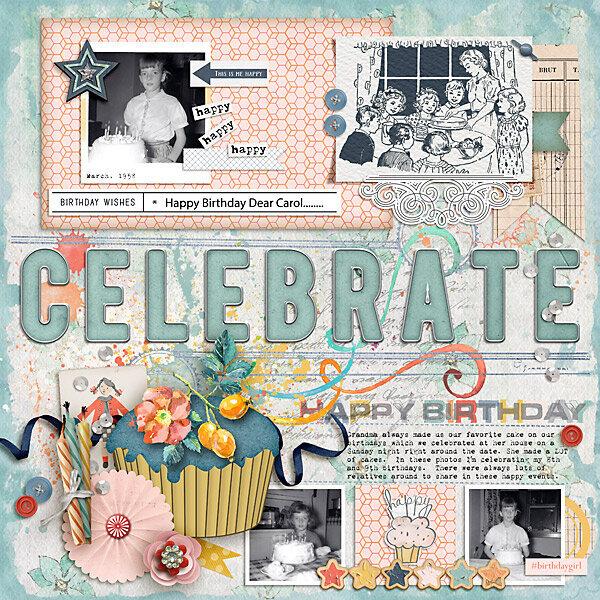 1958 Celebrate Happy Birthday Carol