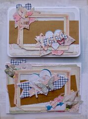 Cards from DIY page kit