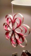 Paper Strip Flower Hanging Decoration