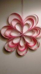 Paper Strip Flower Decoration