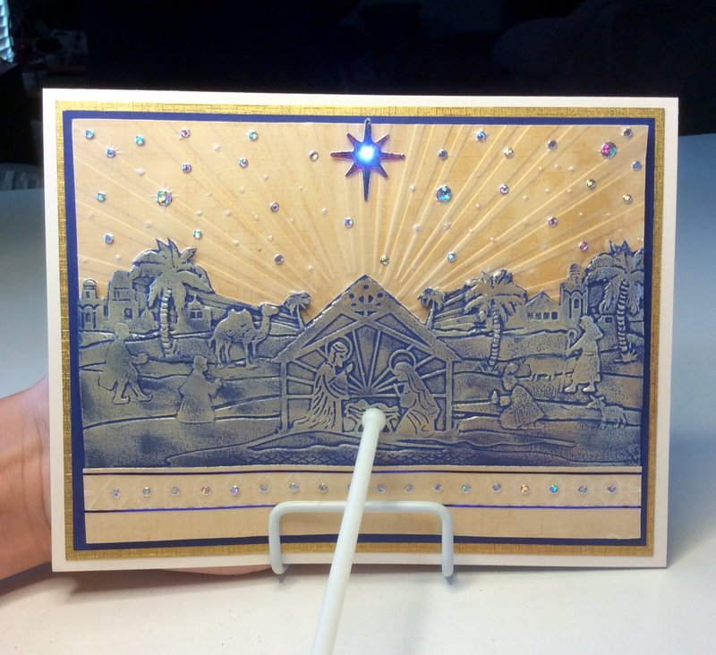 Crafters companion 3D embossing folder Nativity
