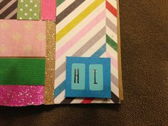 hi, holly patchwork card