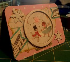 Winter dance snow globe ATC Christmas card