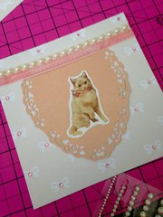 blessings and bling kitty cat card