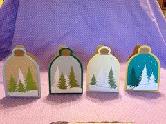 winter snowglobe terrarium cards