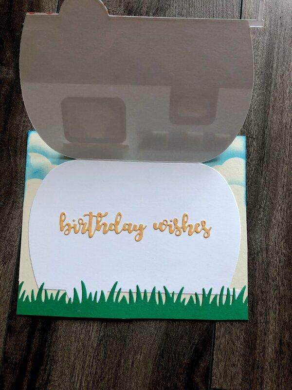 Camp Trailer Birthday Card