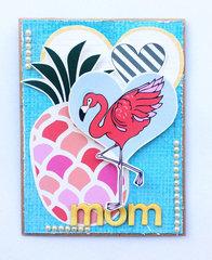 Flamingo Mom Card