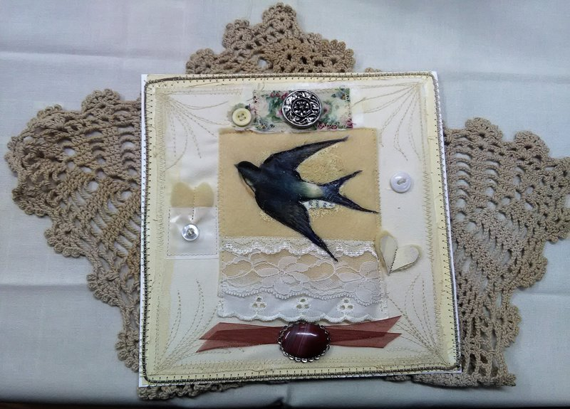 Mixed Media Swallow Collage