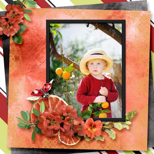 A Hint of Tangerine by Mystery Scraps