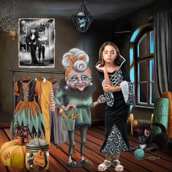 Halloween Fashionista  by Pat Scrap