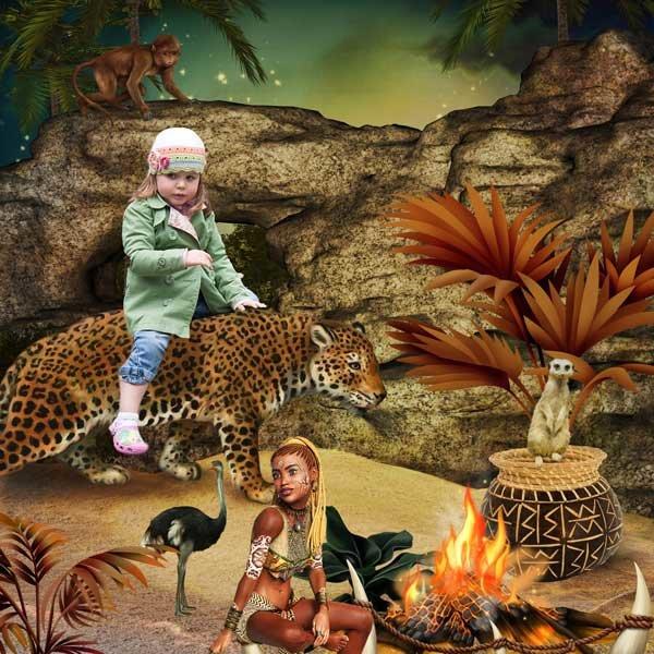 African Beauty by KittyScrap