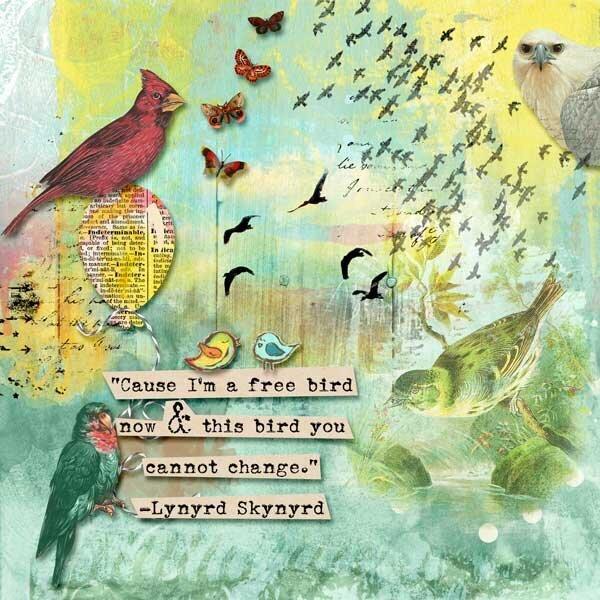 Free Bird by Crafty Button Designs