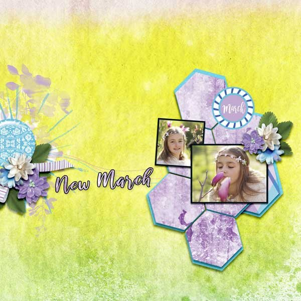 New March by HeartMade Scrapbook