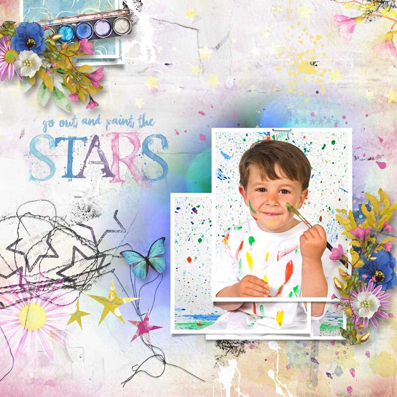 Paint the Stars by Heartstrings Scrap Art
