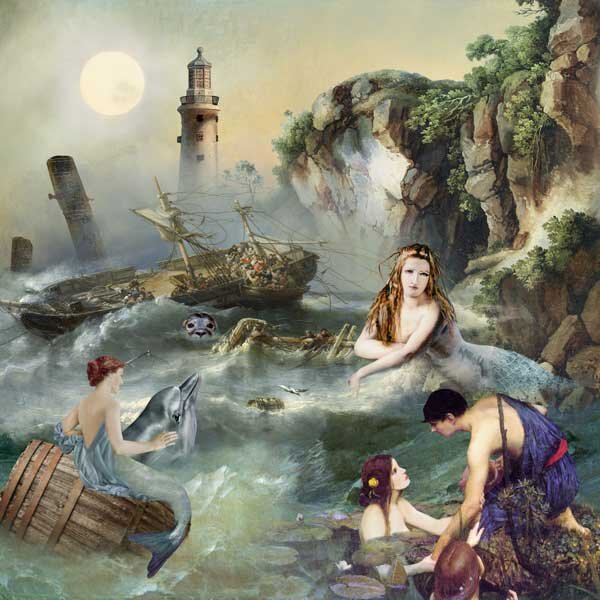 Mythical Sea Nymphs and Sirens by Lynne Anzelc Designs