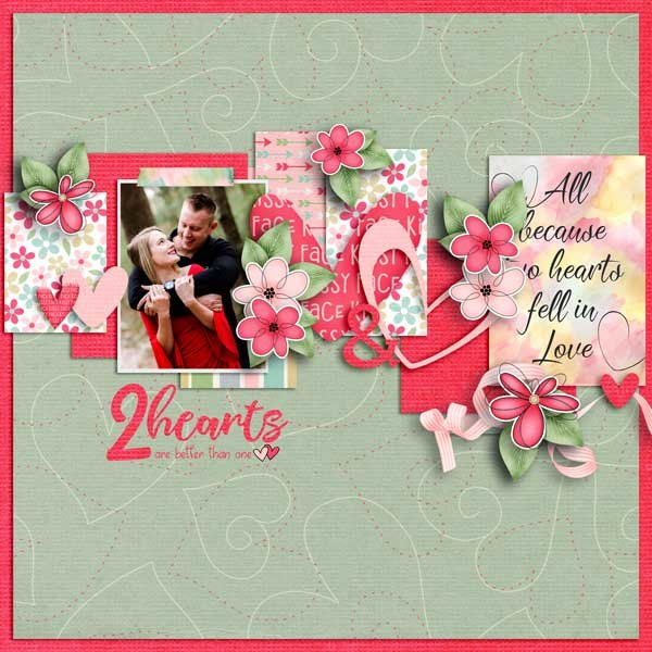 Two Hearts Collab by  Fayette Designs, Jen Yurko and Jumpstart Designs