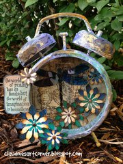 Altered Tim Holtz Assemblage Clock