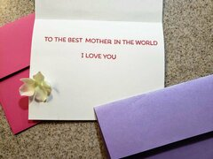 Mother's Day Card inside of card